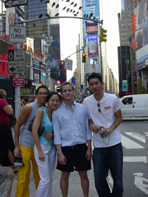 Me in NYC with college friends. The girl there was a friend who friendzoned me and ended up dating my other friend Tim in the picture because I was clueless about women.